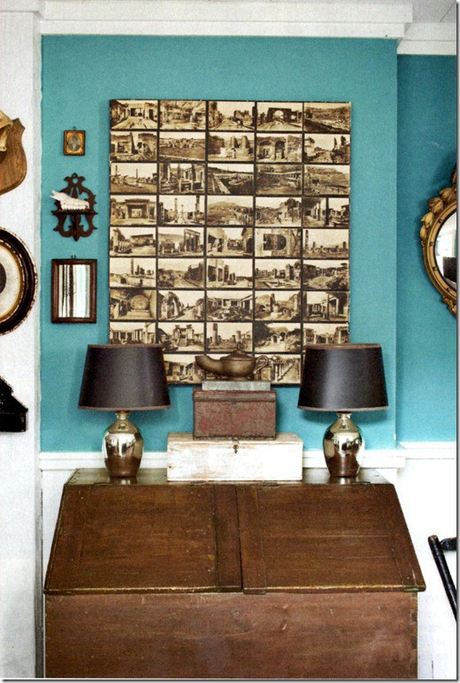 How To Use Old Postcards As Wall Art | Small House Plans Modern